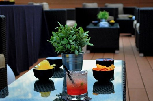The terrace of our hotel offers a relaxed atmosphere for ...
